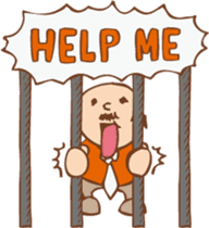 Ojisan from Mr. Mobile - battery saver - sticker #235050