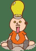 Ojisan from Mr. Mobile - battery saver - sticker #235065