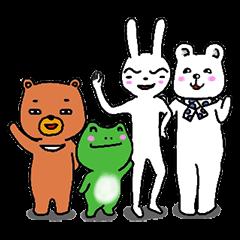 The friends of  Jiro the Rabbit