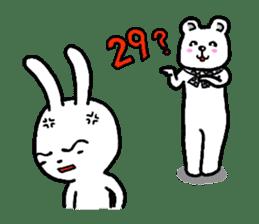 The friends of  Jiro the Rabbit sticker #235192