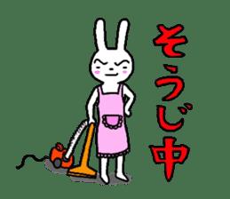 The friends of  Jiro the Rabbit sticker #235196
