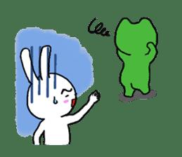 The friends of  Jiro the Rabbit sticker #235198
