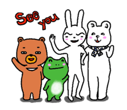 The friends of  Jiro the Rabbit sticker #235199