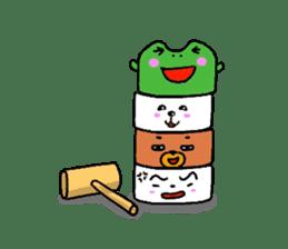 The friends of  Jiro the Rabbit sticker #235200