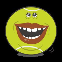 Funny tennis balls
