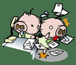 Pigs JIRO and HANA sticker #237420