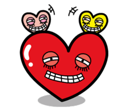 HAPPY LOVE HEARTY sticker #237974