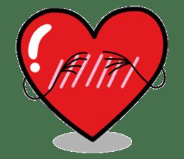 HAPPY LOVE HEARTY sticker #237975
