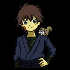 Mr.Fujimaru and Momokichi