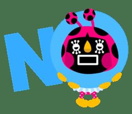 ladybird Nana-chan's love sticker sticker #238532