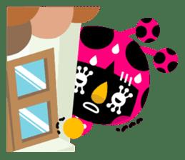 ladybird Nana-chan's love sticker sticker #238540