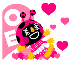 ladybird Nana-chan's love sticker sticker #238542