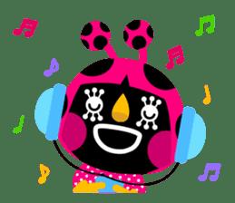 ladybird Nana-chan's love sticker sticker #238548