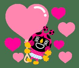ladybird Nana-chan's love sticker sticker #238551