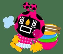 ladybird Nana-chan's love sticker sticker #238553