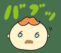 Mustached Baby sticker #240122