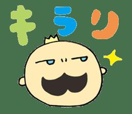 Mustached Baby sticker #240141