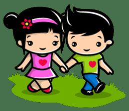 LOVE ONLY ONE - KOKO AND KIKI sticker #240204