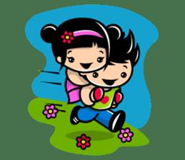 LOVE ONLY ONE - KOKO AND KIKI sticker #240205