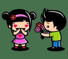 LOVE ONLY ONE - KOKO AND KIKI sticker #240208
