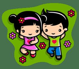 LOVE ONLY ONE - KOKO AND KIKI sticker #240240