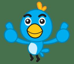 Mr. Blue Bird sticker #240481