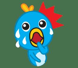 Mr. Blue Bird sticker #240484