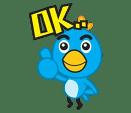Mr. Blue Bird sticker #240485