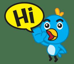 Mr. Blue Bird sticker #240488