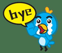 Mr. Blue Bird sticker #240489