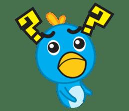 Mr. Blue Bird sticker #240494