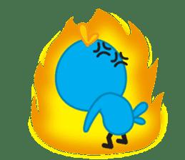 Mr. Blue Bird sticker #240507