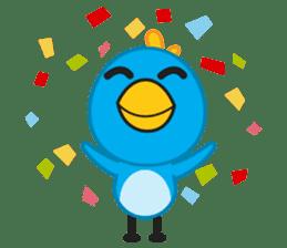 Mr. Blue Bird sticker #240509