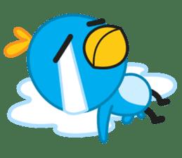Mr. Blue Bird sticker #240510