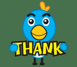 Mr. Blue Bird sticker #240513