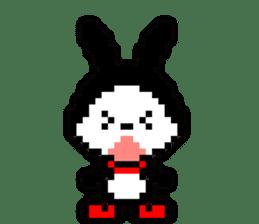 rabbit-hareconi(Pixelated version) sticker #241703