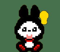rabbit-hareconi(Pixelated version) sticker #241709
