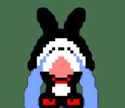 rabbit-hareconi(Pixelated version) sticker #241710
