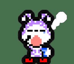 rabbit-hareconi(Pixelated version) sticker #241723
