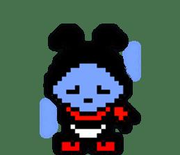 rabbit-hareconi(Pixelated version) sticker #241728