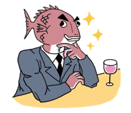 Business Fish sticker #241837