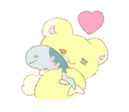 Crybaby bear and friend Salmon sticker #241869