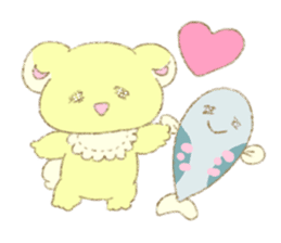 Crybaby bear and friend Salmon sticker #241870