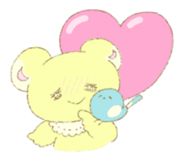 Crybaby bear and friend Salmon sticker #241872
