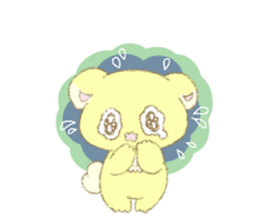 Crybaby bear and friend Salmon sticker #241878