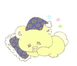 Crybaby bear and friend Salmon sticker #241883