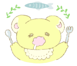 Crybaby bear and friend Salmon sticker #241885