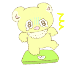 Crybaby bear and friend Salmon sticker #241887