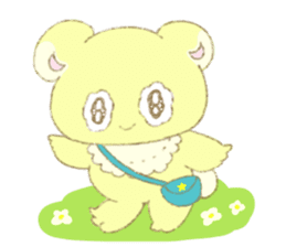 Crybaby bear and friend Salmon sticker #241889