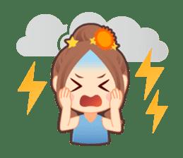Weather girl Teruko sticker #242942